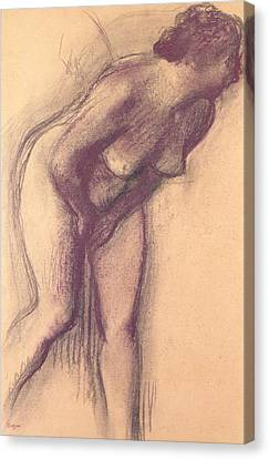 Female Standing Nude Canvas Print