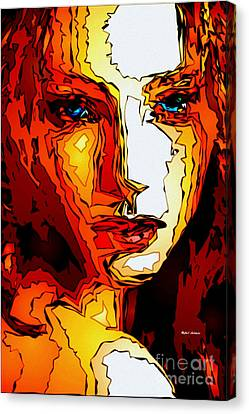 Female Tribute II Canvas Print by Rafael Salazar