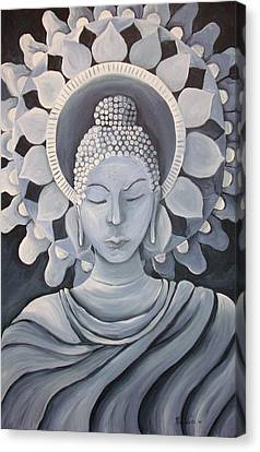 Feminine Buddha In A Peaceful Place Canvas Print by Nicole Werth