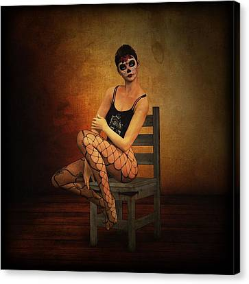 Computer Graphics Canvas Print - Feminine Expression by Zin Shades