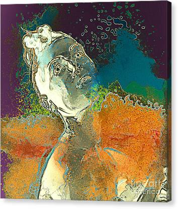 Frailty Canvas Print - Femininity by Daniela Constantinescu