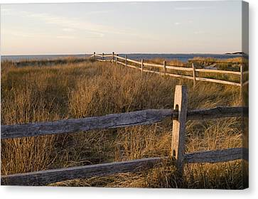 Fence Along The Dunes - Madaket - Nantucket Canvas Print