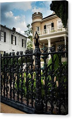 Fence At Cornstalk Hotel Canvas Print