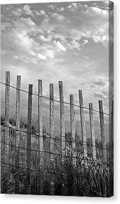Bamboo Fence Canvas Print - Fence At Jones Beach State Park. New York by Gary Koutsoubis