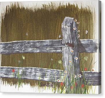 Fence D And S Canvas Print
