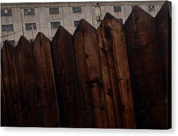 Canvas Print featuring the photograph Fence by Jez C Self