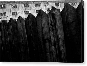 Canvas Print featuring the photograph Fenced In Or Out by Jez C Self