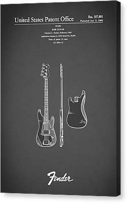 Fender Bass Guitar 1960 Canvas Print by Mark Rogan