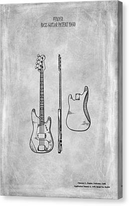 Fender Bass Guitar Patent 1960 Canvas Print by Mark Rogan
