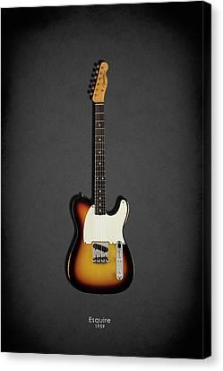 Fender Esquire 59 Canvas Print by Mark Rogan