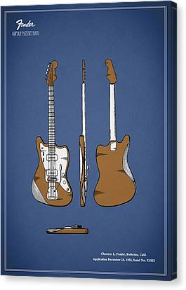 Fender Guitar Patent 1959 Canvas Print by Mark Rogan