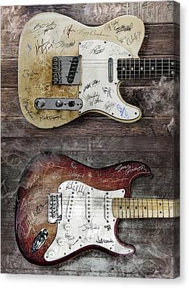 Fender Guitars Fantasy Canvas Print