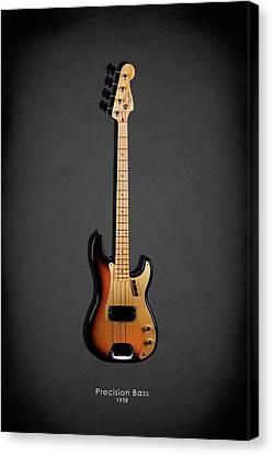 Rock Music Canvas Print - Fender Precision Bass 58 by Mark Rogan