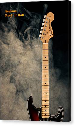 Guitar Canvas Print - Fender - Serious Rock N Roll by Mark Rogan