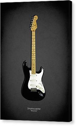 Fender Stratocaster Blackie 77 Canvas Print by Mark Rogan