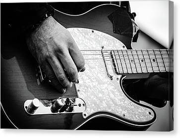 Fender Telecaster On Stage 2 Canvas Print