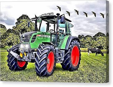 Fendt 312 Vario Tractor Canvas Print