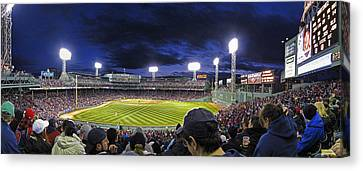 Fenway Night Canvas Print by Rick Berk