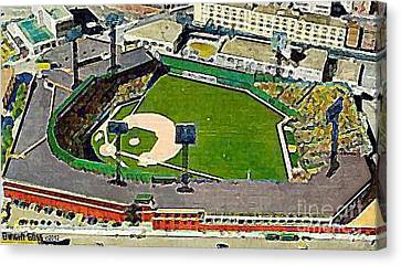 Fenway Park Baseball Stadium In Boston Ma In 1940 Canvas Print by Dwight Goss