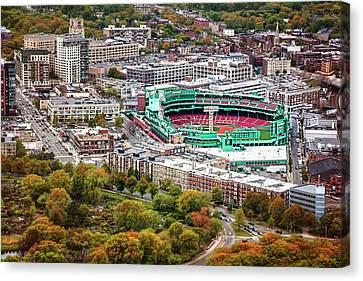American League Canvas Print - Fenway Park  Boston Red Sox by Carol Japp