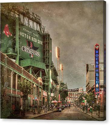 Red Sox Canvas Print - Fenway Park - Boston Red Sox - Lansdowne St by Joann Vitali
