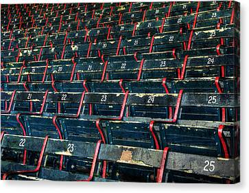 Fenway Park Grandstand Seats Canvas Print by Joann Vitali