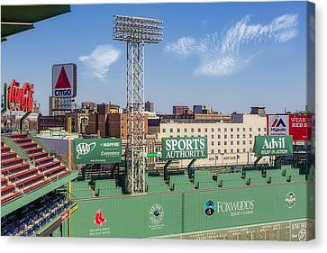 Fenway Park Green Monster Wall Canvas Print by Susan Candelario