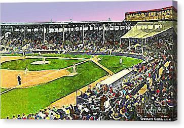 Fenway Park In Boston Ma In 1940 Canvas Print by Dwight Goss