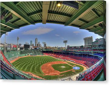 Fenway Park Interior  Canvas Print by Joann Vitali