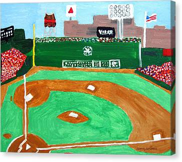 Fenway Canvas Print - Fenway Park by Jeff Caturano
