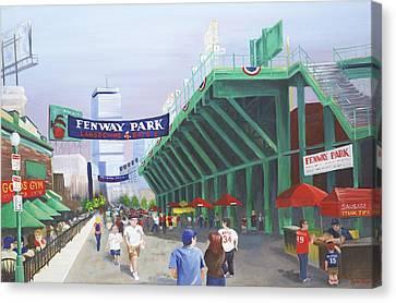 Fenway Park Canvas Print by Lynn Ricci