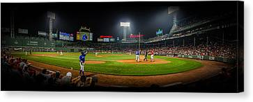 Fenway Park Panorma Canvas Print by Jeff Ortakales