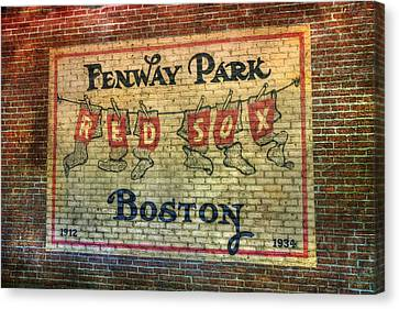 Fenway Park Sign - Boston Canvas Print by Joann Vitali