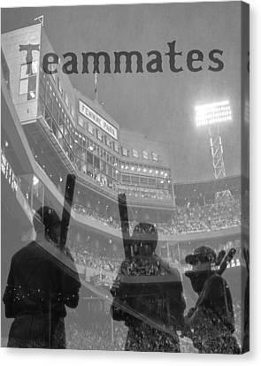 Fenway Park Teammates - Boston Canvas Print by Joann Vitali