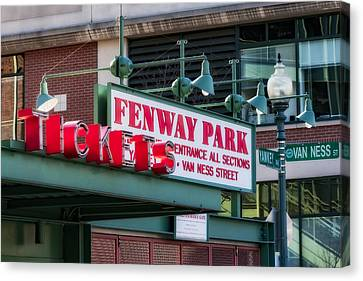Fenway Park Tickets Canvas Print by Susan Candelario