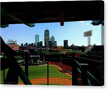 Canvas Print featuring the photograph Fenway Park, Xi  by Iconic Images Art Gallery David Pucciarelli