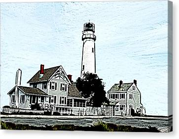 Fenwick Island Light House Canvas Print by Crystal Garner
