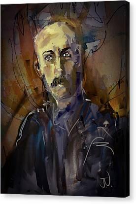 Canvas Print featuring the digital art Ferdinand by Jim Vance