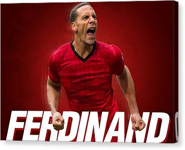 Wayne Rooney Canvas Print - Ferdinand by Semih Yurdabak