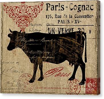 Ferme Farm Cow Canvas Print