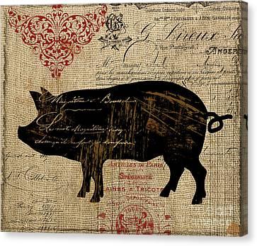 Ferme Farm Piglet Canvas Print
