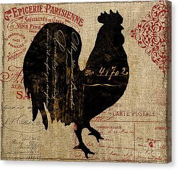 Ferme Farm Rooster Canvas Print