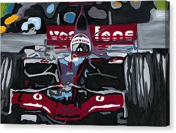 Fernando Alonso Wins Monaco For Mclaren 2008 Canvas Print by Ran Andrews