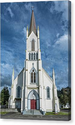 Canvas Print featuring the photograph Ferndale Catholic Church by Greg Nyquist