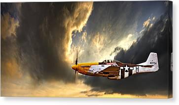 P-51 Canvas Print - Ferocious Frankie by Meirion Matthias