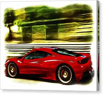 Australian Open Canvas Print - Ferrari 13a by Brian Reaves