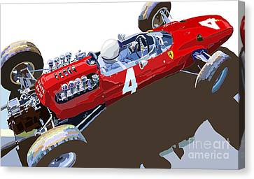 Ferrari 158 F1 1965 Dutch Gp Lorenzo Bondini Canvas Print by Yuriy  Shevchuk