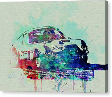 Ferrari 250 Gtb Racing Canvas Print by Naxart Studio