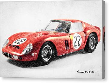 Ferrari 250 Gto Canvas Print by Taylan Apukovska