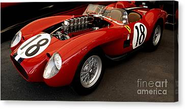 Ferrari 250 Tr Exposed Canvas Print by Curt Johnson